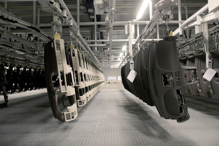 Transport wewnętrzny ponad powierzchnią produkcyjną - Automotive Production Support
